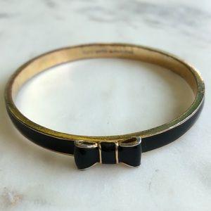 Kate Spade Take A Bow Black Bangle Bracelet